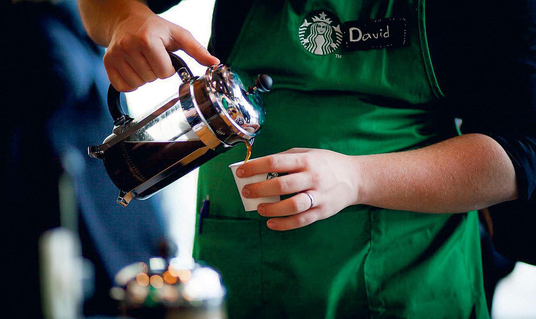 ÅPNER: Starbucks åpner Ny Butikk I Kristiansand. Pressefoto.