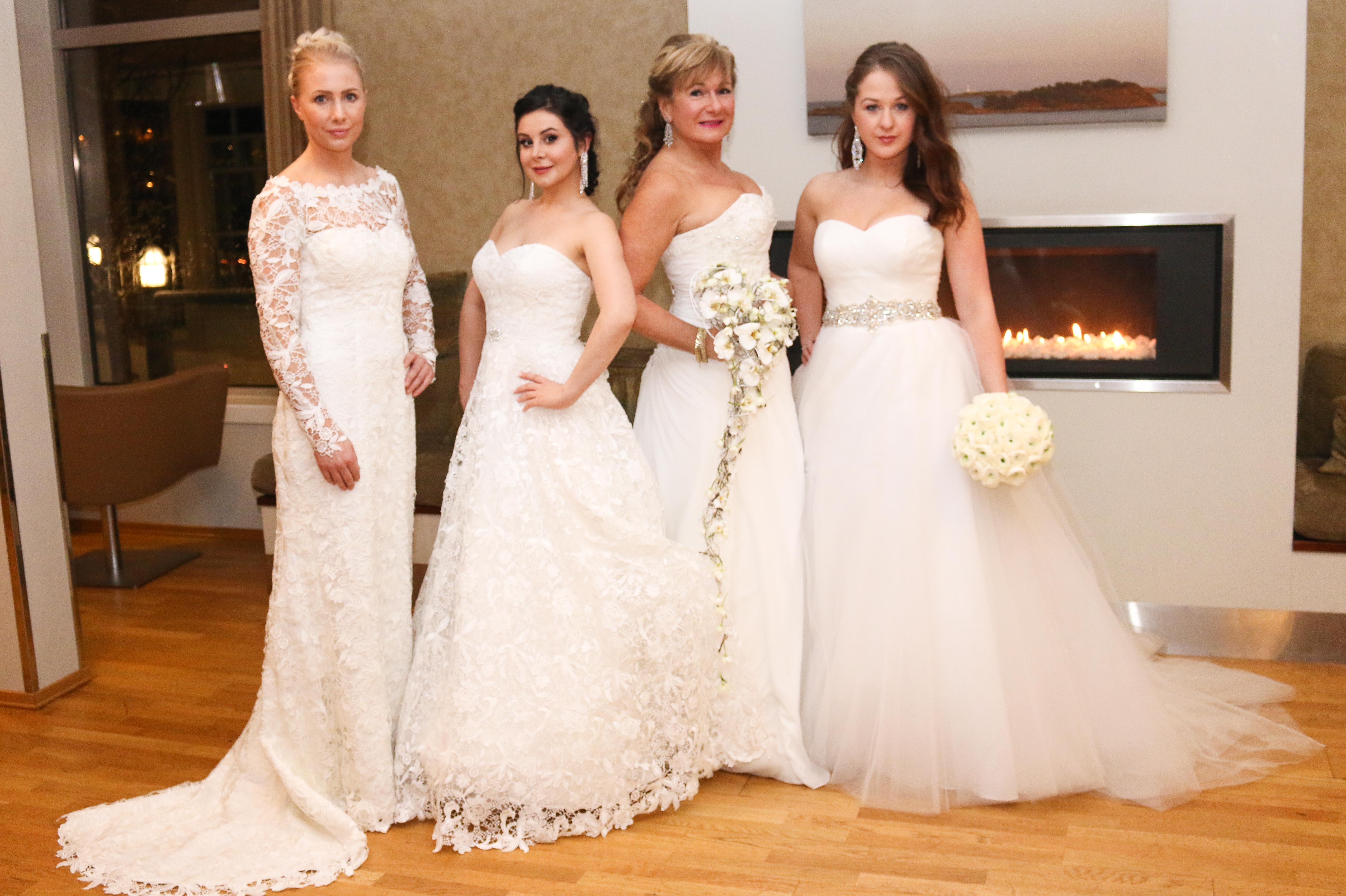 PÅ KVINNEDAGEN: Årets Brudemesse Ble Arrangert På Selveste Kvinnedagen. Her Fire Av Modellene. Foto: Valentina Hoxhaj