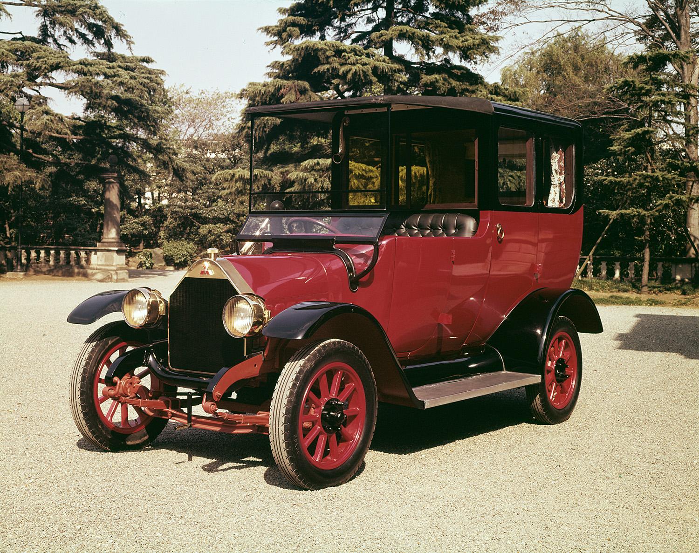 BLIR LADBAR HYBRID: En Kopi Av Mitsubishi Model A Fra 1917 - Japans Første Serieproduserte Bil. Foto: Mitsubishi