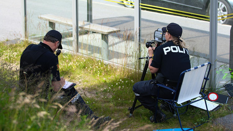 EFFEKTIVT: Politikontroller Er Det Mest Effektive Tiltaket For å Få Ned Antall Dødsulykker På Norske Veier. Det Mener Trygg Trafikk. Pressefoto