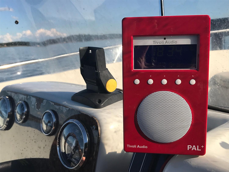 DAB-radio I Båten. Foto: Radio.no