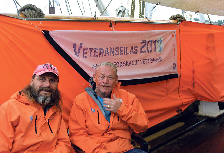 VETERANER: Kenneth Mesøy Og Morten Berg Er Med På Veteranseilas For Andre Gang. Foto: Anita Johnsen
