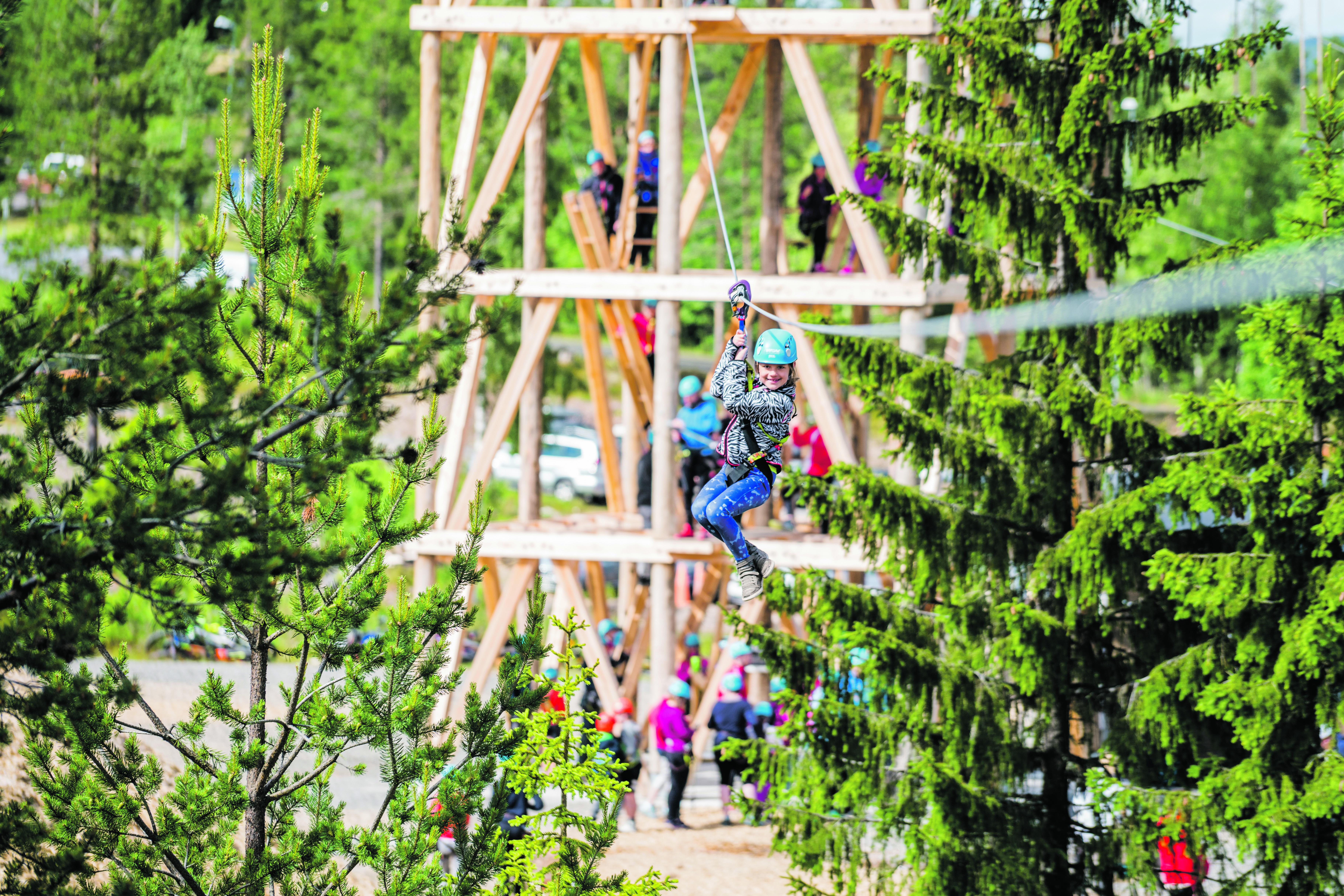 Høyt & Lavt Trysil: Klatreparken åpnet 6. Juni I år Og Har Allerede Hatt Over 8000 Gjester I Parken. Foto: Jacob Gjerluff