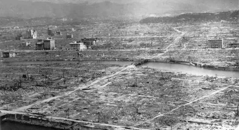 HIROSHIMA: Den Japanske Byen Hiroshima Ble Lagt I Ruiner Av En Amerikansk Atombombe, 6. August 1945. Foto:  Handout,