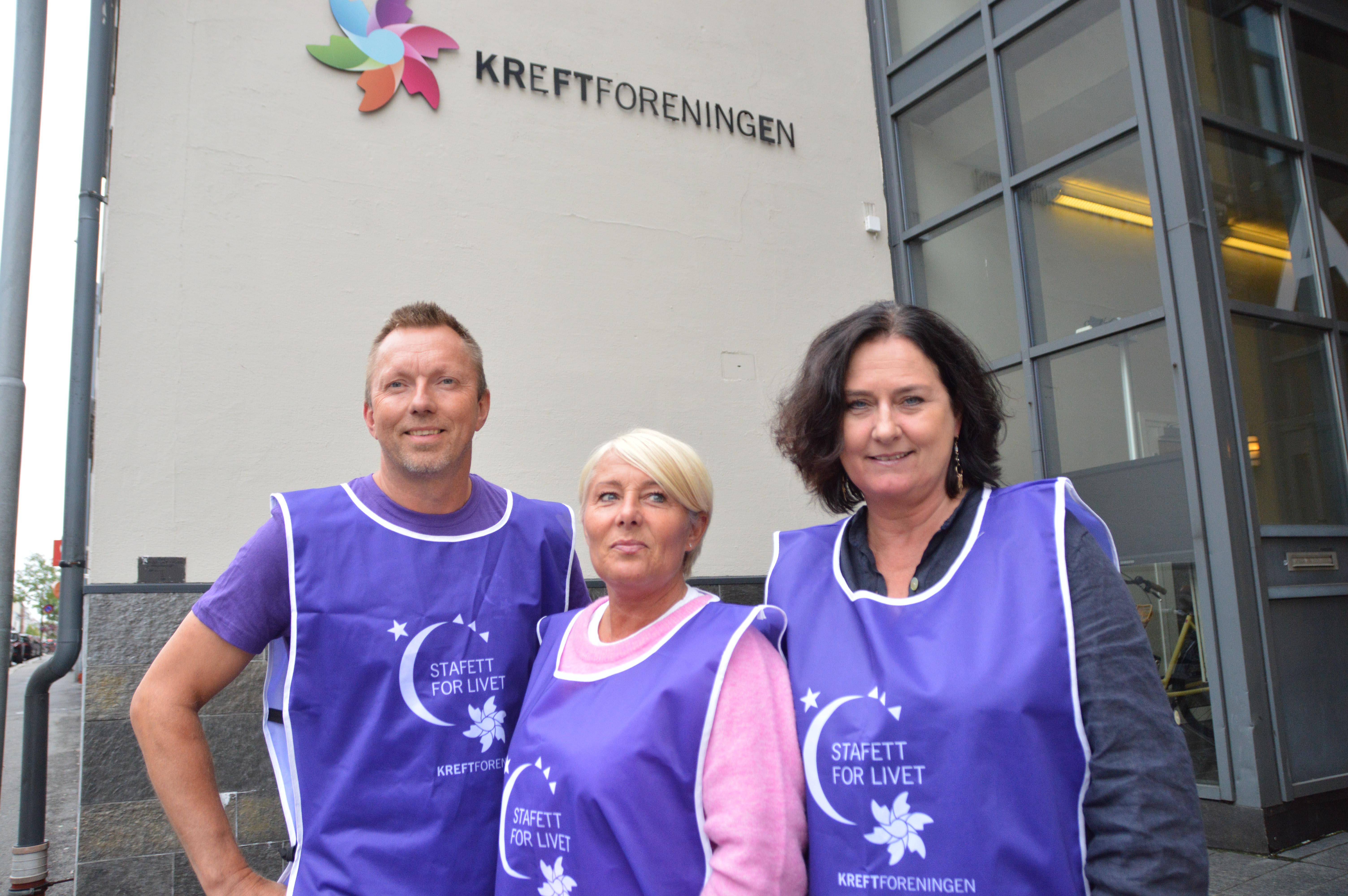 SAMLING:  Trude Vibeke Omland Nygaard, Cathrine Aanesen Og Geir Wehus Inviterer Alle Som Vil Til Stafett For Livet 8. Og 9. September.