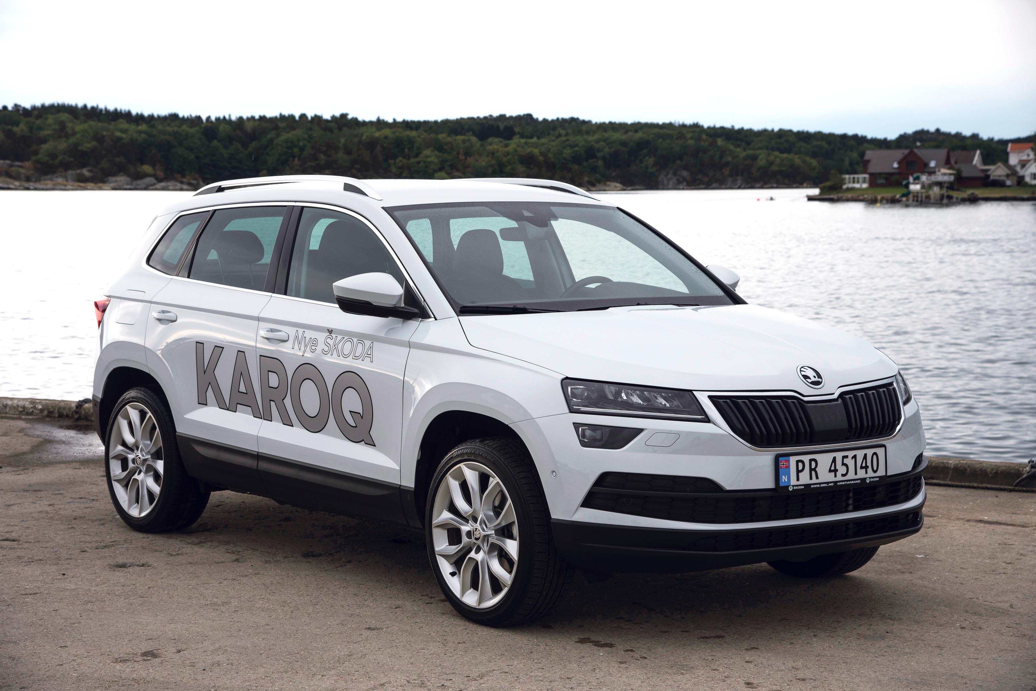 KOMPAKT: Karoq Fyller Gapet Mellom VW T-Roc Og VW Tiguan I Størrelse. Samtidig Er Den Et Alternativ Til De Som Synes Skoda Kodiaq Blir I Største Laget.