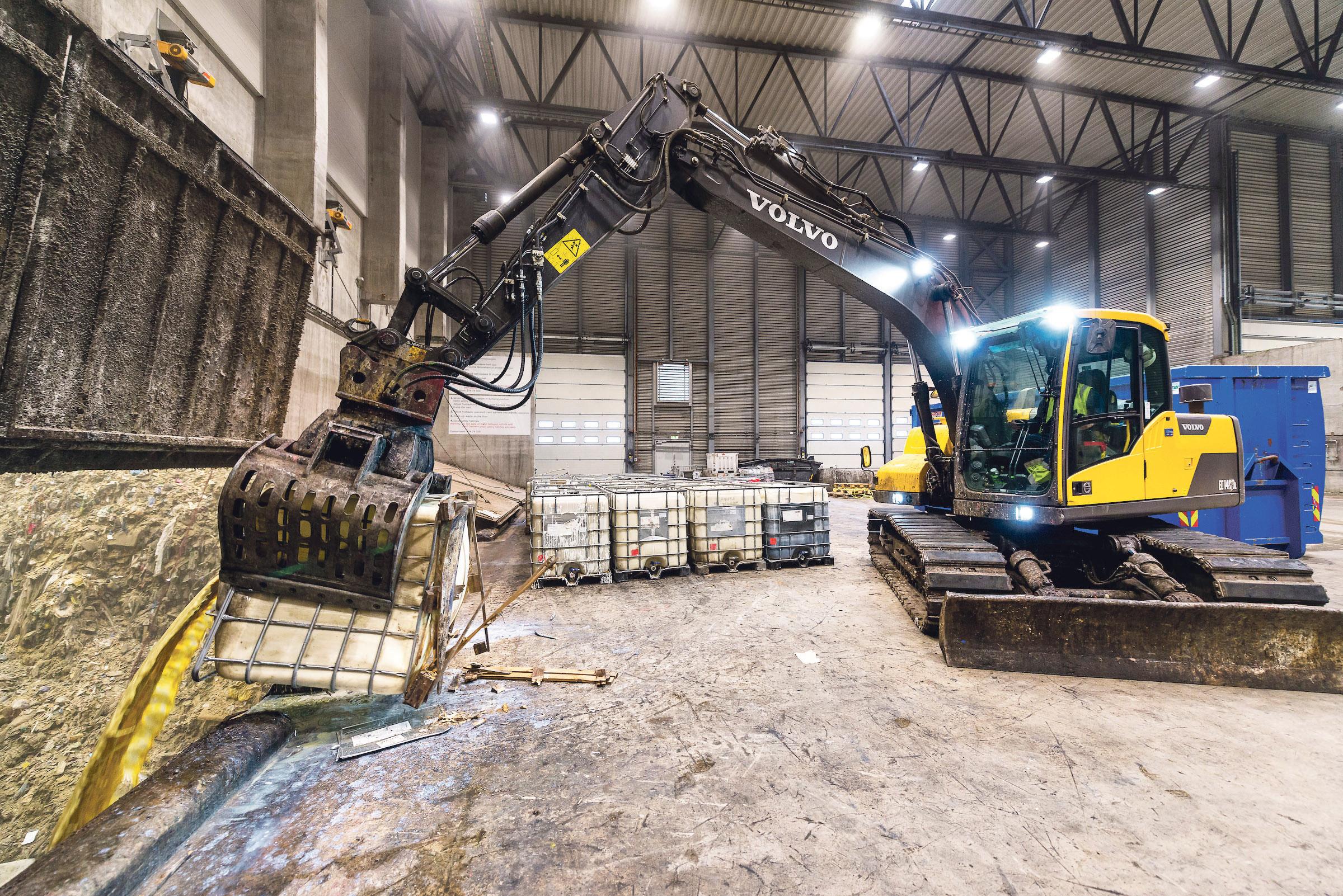 NYTT AVFALLSMOTTAK: Et Mottak For Farlig Avfall Er Nylig Opprettet På Langemyr. Foto: Kjell Inge Søreide.