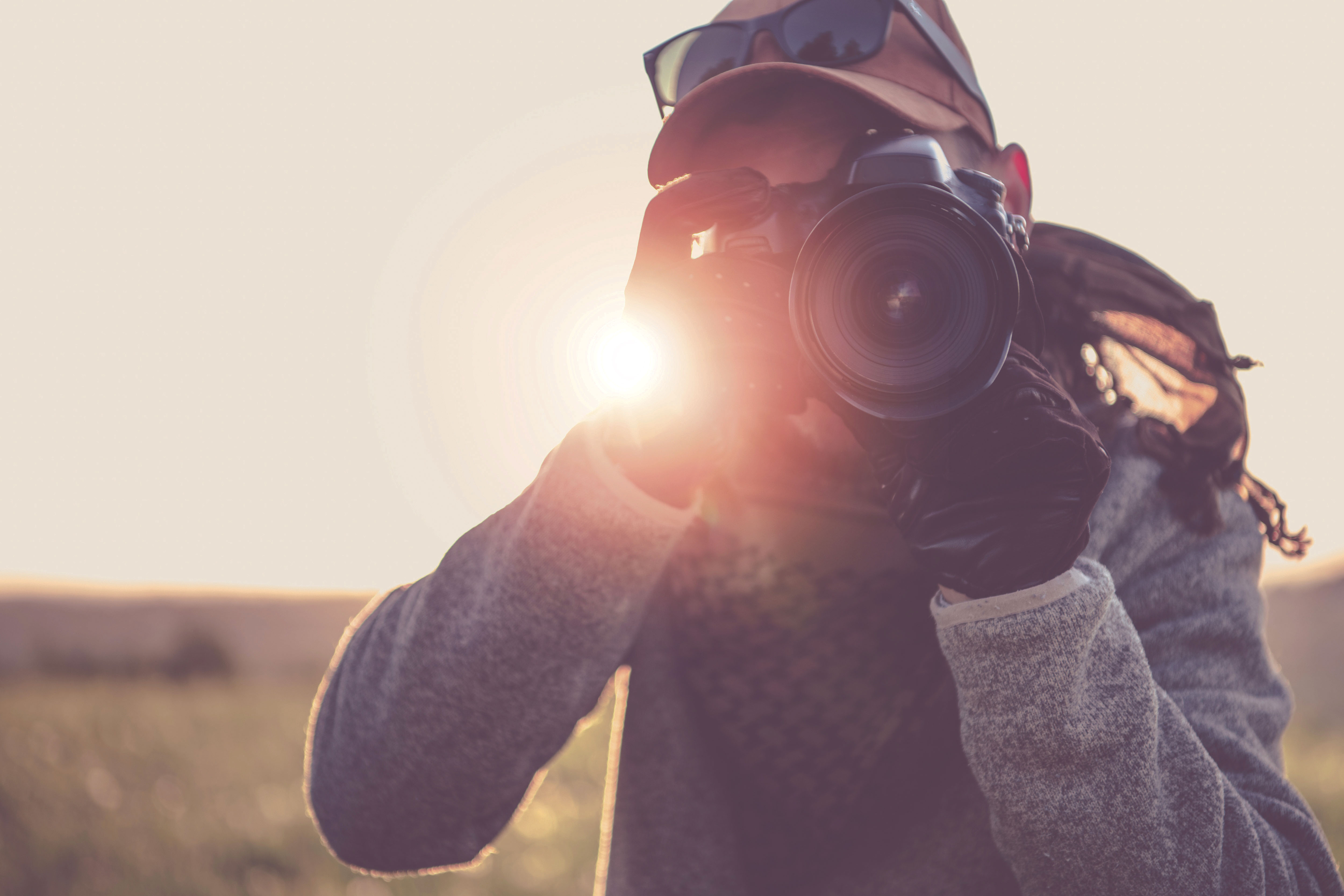 Press Photographer With Camera