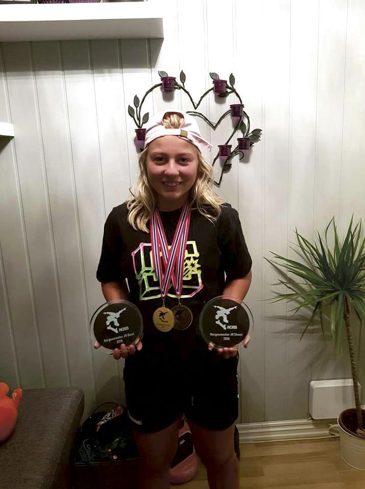 GULL: Malene Svanaasen Fikk Hele To Gullmedaljer I 2018. Foto: Privat