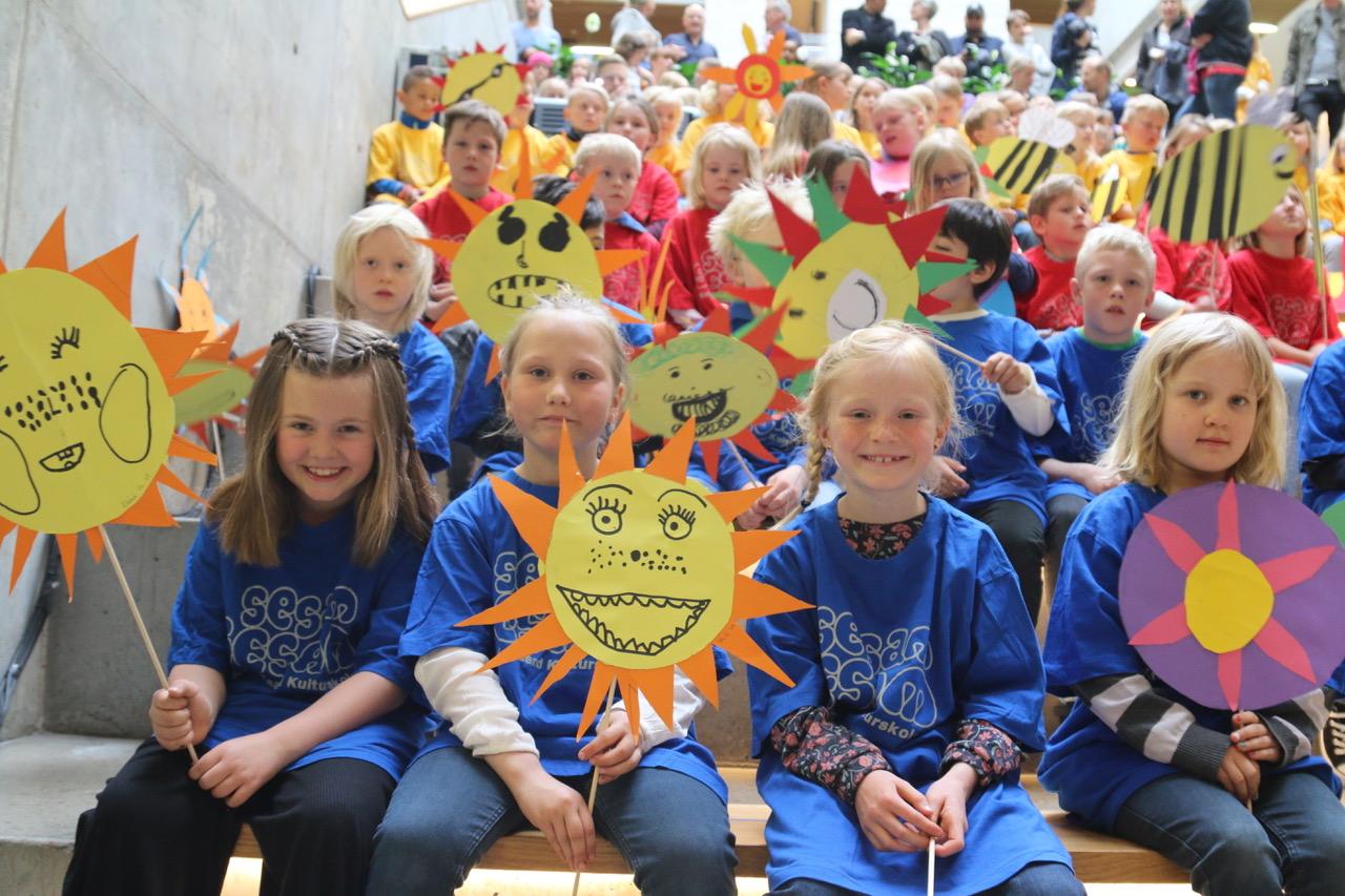 ÅPNING: Sesamelevene Skal Stå For Den Offisielle åpningen.Foto: Knuden - Kristiansand Kulturskole/Karoline Rise Nøstdal