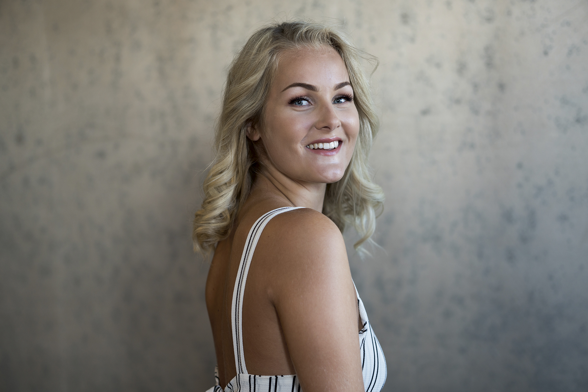 FINALIST: Helene Abildsnes (21) Fra Vågsbygd Kan Vinne årets Miss Norway. Foto: Frode Vestgarden.