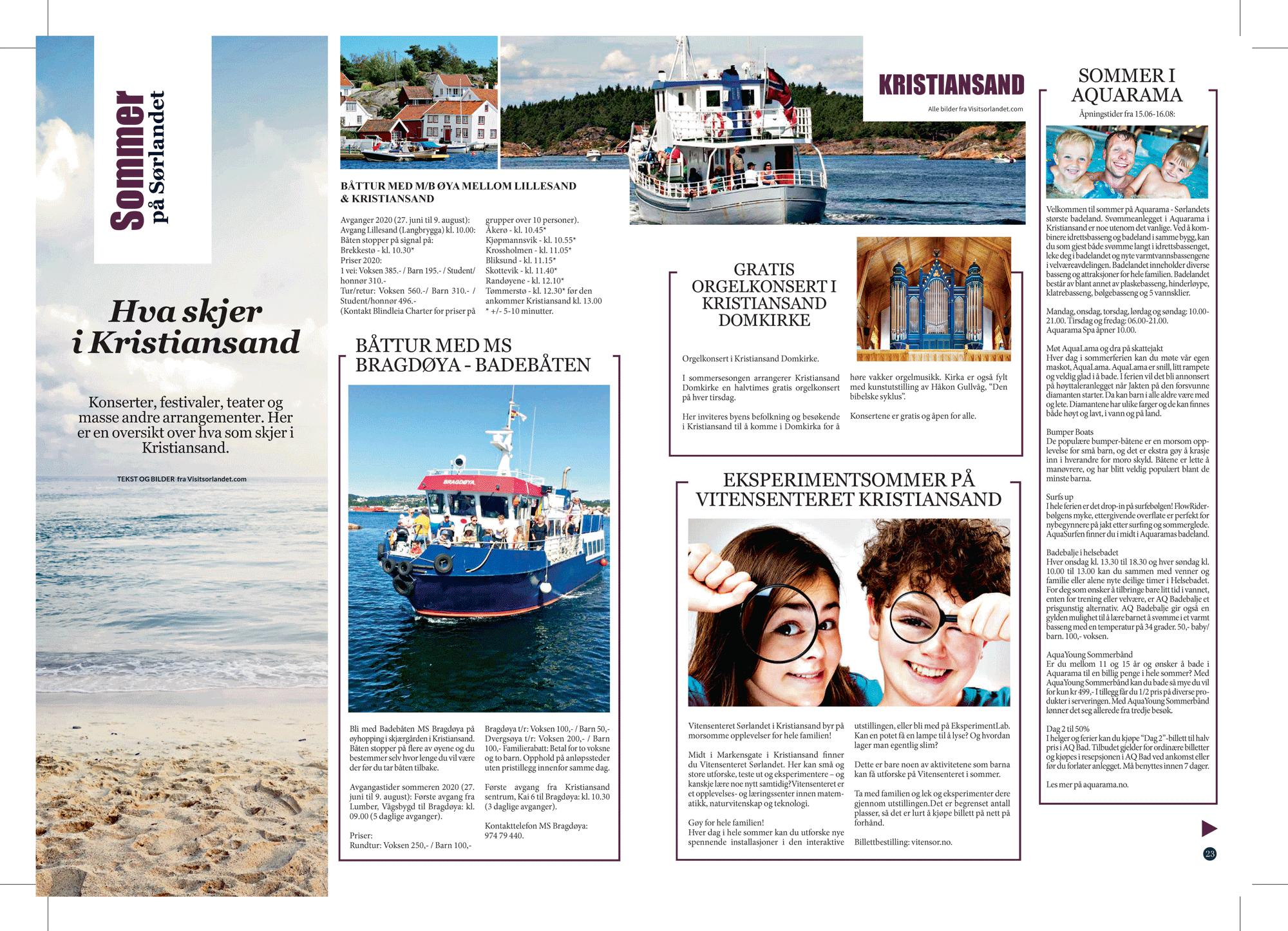Konserter, Festivaler, Teater Og Masse Andre Arrangementer. Her Er En Oversikt Over Hva Som Skjer I Kristiansand.